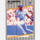 1989 Fleer Baseball #285 Bo Jackson - Kansas City Royals