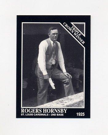 1992 Conlon TSN Baseball #527 Rogers Hornsby - St. Louis Cardinals