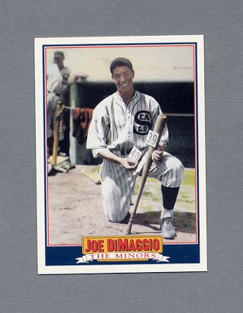 1992 Score Baseball DiMaggio #1 Joe DiMaggio The Minors - New York Yankees