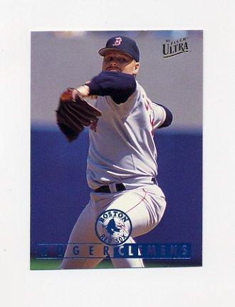 1995 Ultra Baseball #010 Roger Clemens - Boston Red Sox