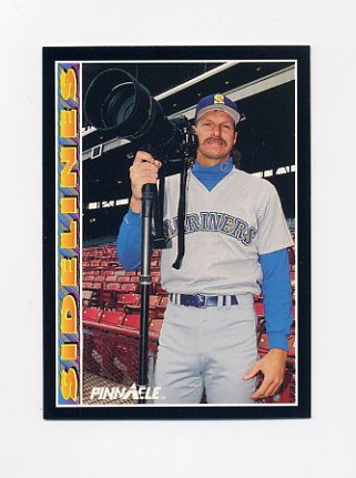 1992 Pinnacle Baseball #595 Randy Johnson SIDE - Seattle Mariners