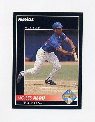 1992 Pinnacle Baseball #572 Moises Alou - Montreal Expos