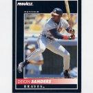 1992 Pinnacle Baseball #170 Deion Sanders - Atlanta Braves
