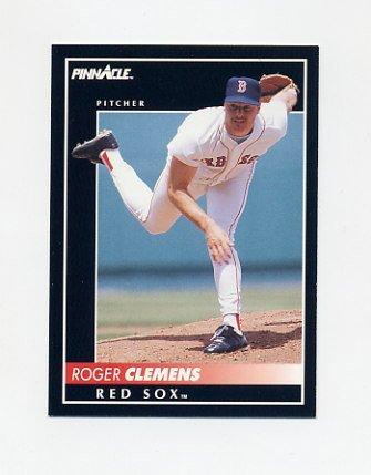 1992 Pinnacle Baseball #095 Roger Clemens - Boston Red Sox