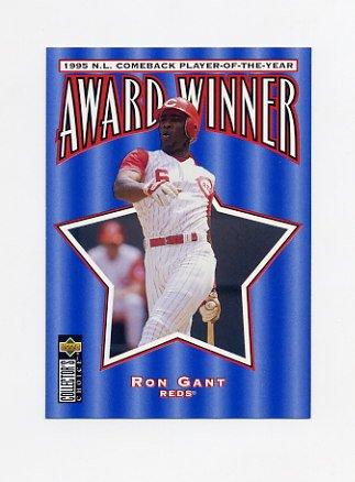 1996 Collector's Choice Baseball #711 Ron Gant CB - Cincinnati Reds