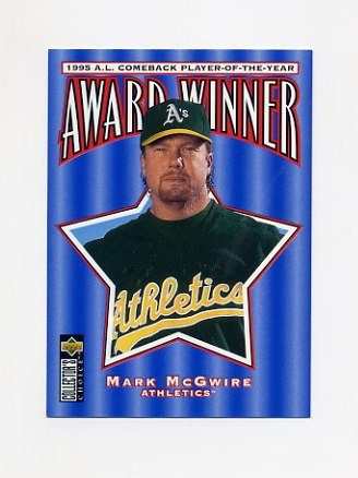 1996 Collector's Choice Baseball #710 Mark McGwire CB - Oakland A's