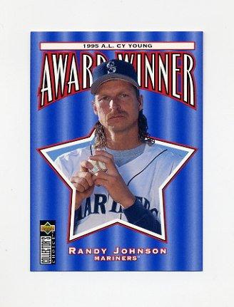 1996 Collector's Choice Baseball #708 Randy Johnson CY - Seattle Mariners