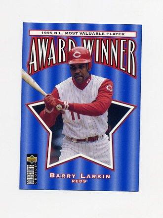 1996 Collector's Choice Baseball #707 Barry Larkin MVP - Cincinnati Reds