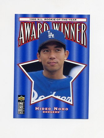 1996 Collector's Choice Baseball #705 Hideo Nomo ROY - Los Angeles Dodgers