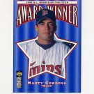 1996 Collector's Choice Baseball #704 Marty Cordova ROY - Minnesota Twins