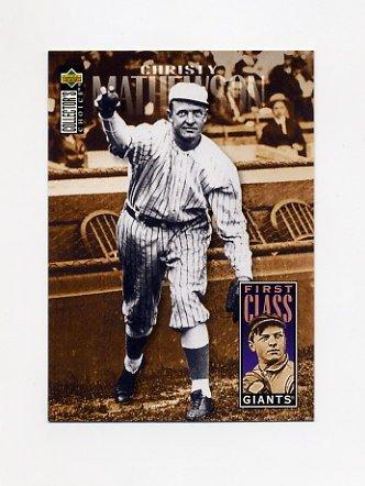 1996 Collector's Choice Baseball #503 Christy Mathewson FC - New York Giants