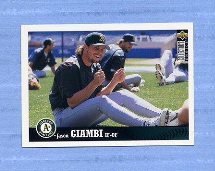 1997 Collector's Choice Baseball #184 Jason Giambi - Oakland A's