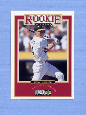 1997 Collector's Choice Baseball #024 Brian Lesher RC - Oakland A's
