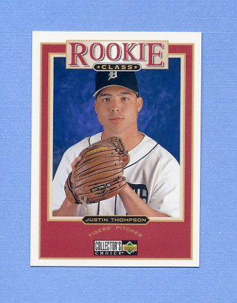 1997 Collector's Choice Baseball #021 Justin Thompson - Detroit Tigers