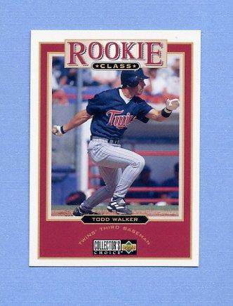 1997 Collector's Choice Baseball #020 Todd Walker - Minnesota Twins