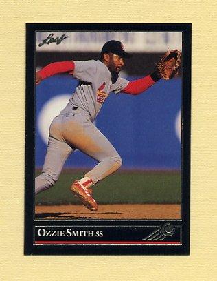 1992 Leaf Baseball Black Gold #400 Ozzie Smith - St. Louis Cardinals
