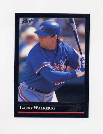 1992 Leaf Baseball Black Gold #201 Larry Walker - Montreal Expos