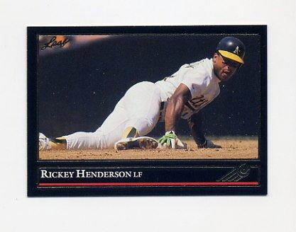 1992 Leaf Baseball Black Gold #116 Rickey Henderson - Oakland A's