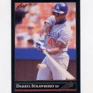 1992 Leaf Baseball Black Gold #029 Darryl Strawberry - Los Angeles Dodgers