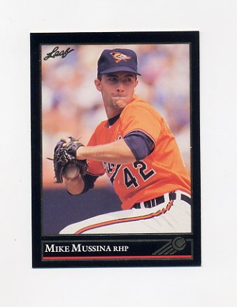 1992 Leaf Baseball Black Gold #013 Mike Mussina - Baltimore Orioles