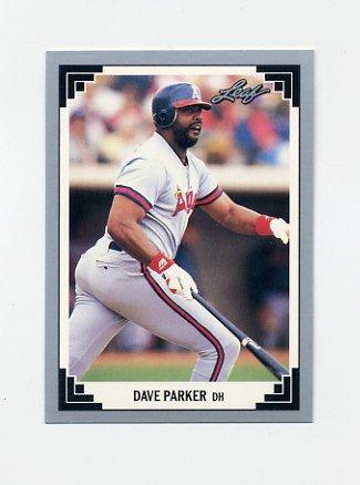 1991 Leaf Baseball #334 Dave Parker - California Angels