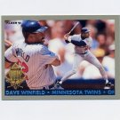 1993 Fleer Final Edition Baseball Diamond Tribute #09 Dave Winfield - Minnesota Twins