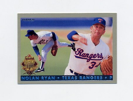 1993 Fleer Final Edition Baseball Diamond Tribute #06 Nolan Ryan - Texas Rangers