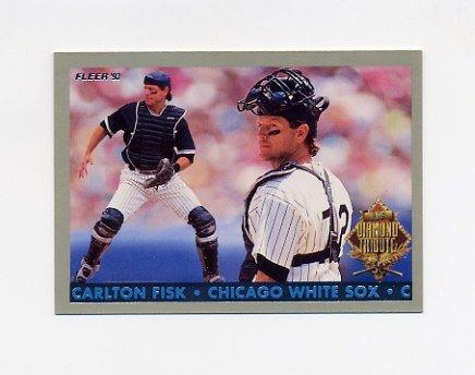 1993 Fleer Final Edition Baseball Diamond Tribute #04 Carlton Fisk - Chicago White Sox