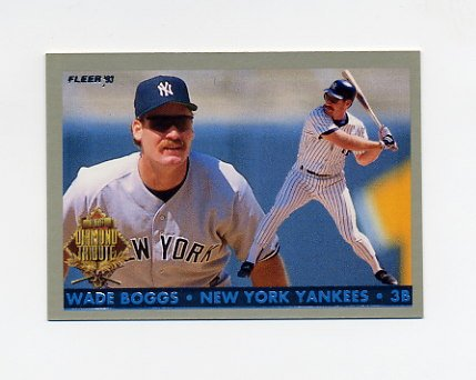 1993 Fleer Final Edition Baseball Diamond Tribute #01 Wade Boggs - New York Yankees