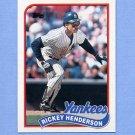 1989 Topps Baseball #380 Rickey Henderson - New York Yankees
