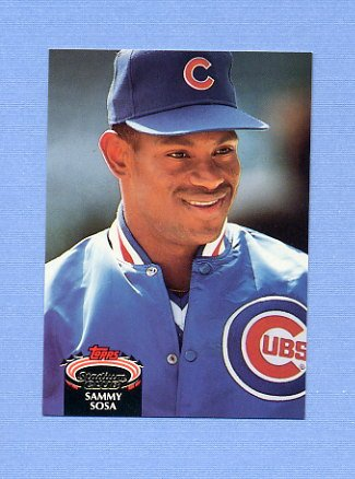 1992 Stadium Club Baseball #628 Sammy Sosa - Chicago Cubs