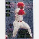 1996 Stadium Club Baseball Bash and Burn #BB03 Reggie Sanders - Cincinnati Reds