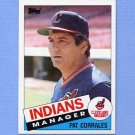 1985 Topps Baseball #119 Cleveland Indians Team Checklist / Pat Corrales MG