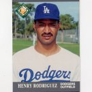 1991 Ultra Baseball #386 Henry Rodriguez MLP RC - Los Angeles Dodgers