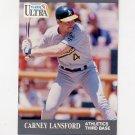 1991 Ultra Baseball #250 Carney Lansford - Oakland A's