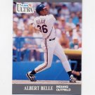 1991 Ultra Baseball #107 Albert Belle - Cleveland Indians