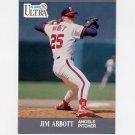 1991 Ultra Baseball #043 Jim Abbott - California Angels