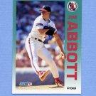 1992 Fleer Baseball #050 Jim Abbott - California Angels