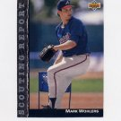 1992 Upper Deck Baseball Scouting Report #SR24 Mark Wohlers - Atlanta Braves