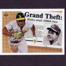 1992 Upper Deck Baseball #782 Rickey Henderson 1000 - Oakland A's