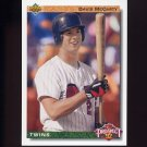 1992 Upper Deck Baseball #075 David McCarty RC - Minnesota Twins