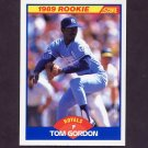 1989 Score Baseball #634 Tom Gordon RC - Kansas City Royals