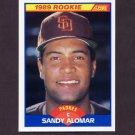 1989 Score Baseball #630 Sandy Alomar Jr. RC - San Diego Padres