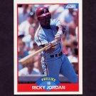 1989 Score Baseball #548 Ricky Jordan RC - Philadelphia Phillies