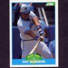 1989 Score Baseball #198 Pat Borders RC - Toronto Blue Jays