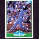 1989 Score Baseball #006 Fred McGriff - Toronto Blue Jays