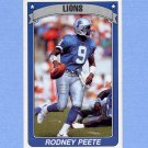 1990 Panini Stickers Football #252 Rodney Peete - Detroit Lions