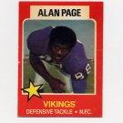 1975 Wonder Bread Football #01 Alan Page - Minnesota Vikings