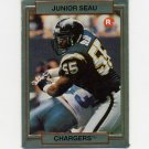 1990 Action Packed Rookie Update Football #38 Junior Seau RC - San Diego Chargers