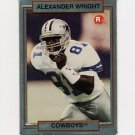 1990 Action Packed Rookie Update Football #36 Alexander Wright RC - Dallas Cowboys